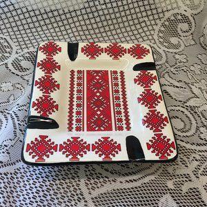 Ashtray/Trinket Dish Ukrainian Traditional Colours